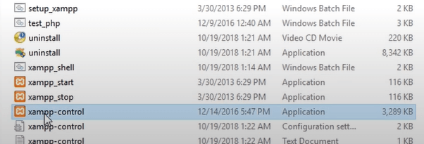 xampp control-folder