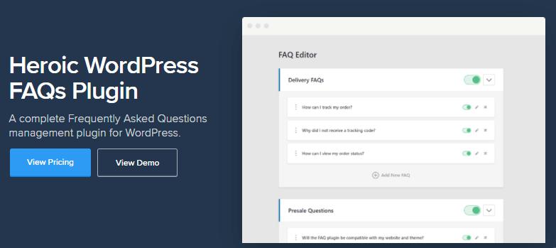 Heroic FAQ plugin