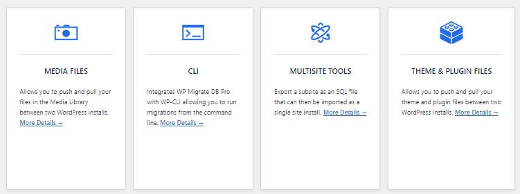 Migrate DB Pro addons
