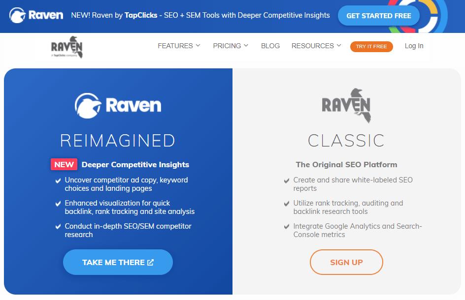 Raven SEO Tool