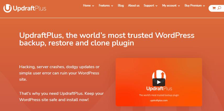 UpdraftPlus Cloud backup solution