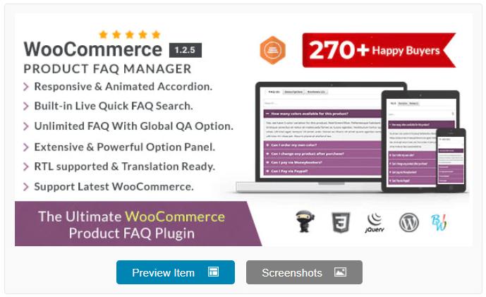 WooCommerce Product FAQ