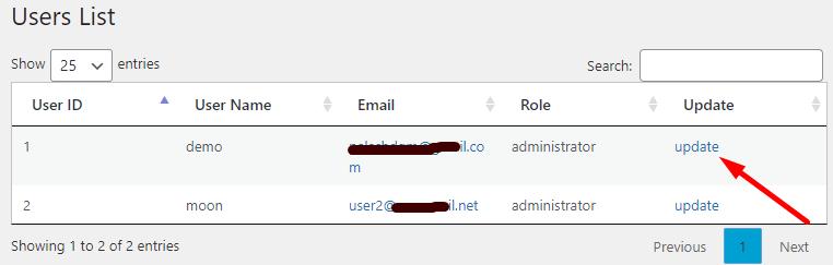plugin user list