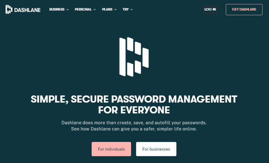 Dashlane online password manager app