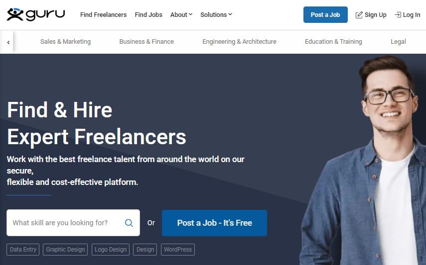 Hire WordPress experts on Guru