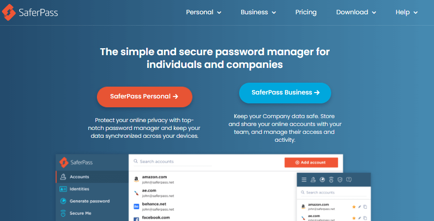 SaferPass protecting app