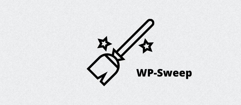 WP-Sweep database optimization plugin