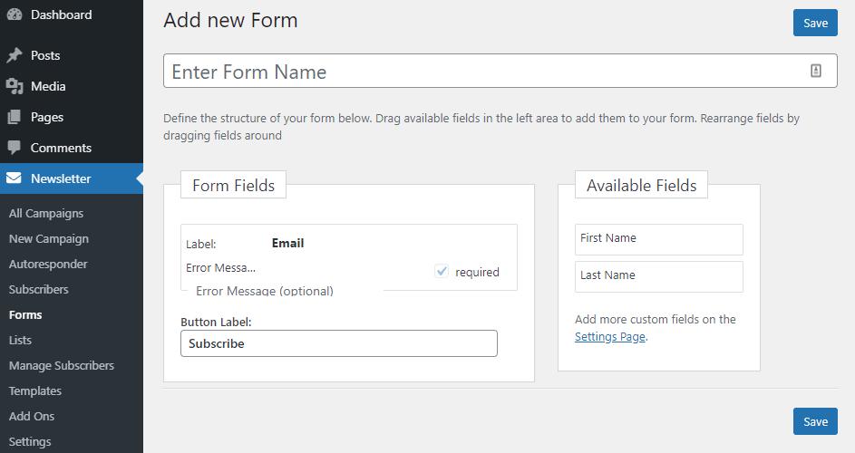 Create new form