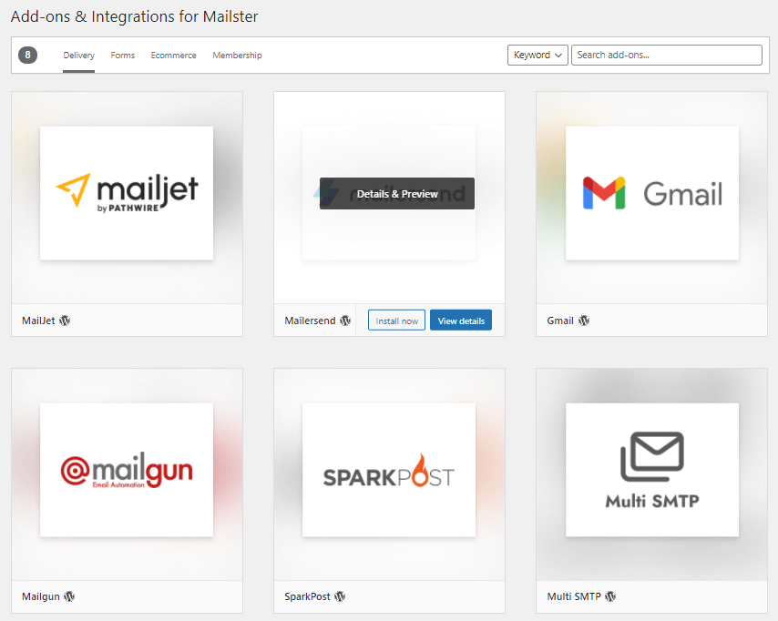 Mailster add-ons