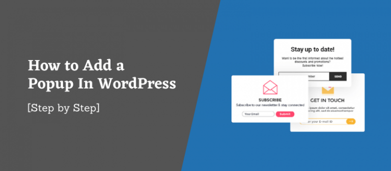 How to Add a Popup In WordPress – [Step by Step]