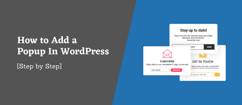 how to add popup in wordpress
